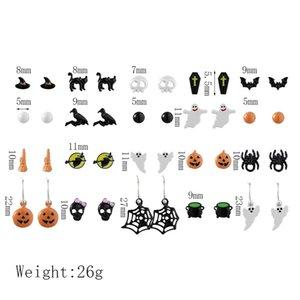 Nightmare Before Christmas Halloween Earrings Punk Skeleton Pumpkin Car Funny Cute Samll Stud Earrings Jewelry Aretes De MujerDIO CHAN CONTA