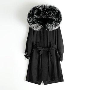 Women's Fur & Faux 2021 LZB White Coat Jacket Women Coats For Pink Winter