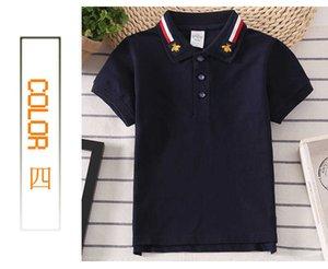 Children's T-shirt boys summer lapel T-shirt fashion solid color children's short-sleeved T-shirt children's top clothes