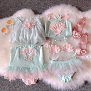 Baby Swim One-Pieces Super Fairy Mermaid one-piece Children's swimsuit hot spring bikini