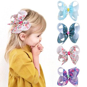 """Hair Accessories 4"""" Bow Clip Easter Girl Print Sweetheart Hairpin Holiday Party Barette Cheveux"""