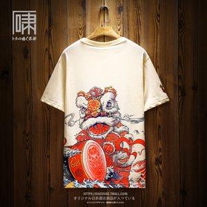 Nueva camiseta para hombre de verano para hombre camiseta para mujer Estilos chinos Impreso de manga corta de manga corta de los hombres de los amantes del estilo de los amantes del chinatown Tamaño M-3XL