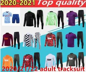 2021/2022 Manchester Former costume Hommes Veste Martiale Rashford Football Sportswear pied Jogging Pogba United Soccer TrackSuit Top Qualité.