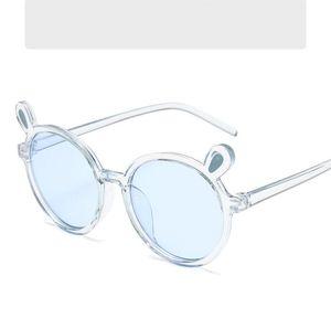 Kids Sunglasses Lovely bear's ear Round Frame Sunglass Party Favor Transparent cartoon Sun Glasses Children Beach Eyewear Kid HHC7089