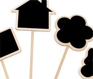 Plant Tags Marker Cute Shape Card Insertion Mini Blackboard Woodiness Arts And Crafts Originality Home Furnishing BWD6248