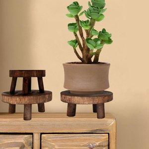 Home Garden Display Stand Wooden Planter Pot Trays Green Plants Succulent Flower Rack Bench High Stool Bonsai Holder Planters & Pots