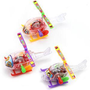 Transparent Mini Aircraft Toys Airplane Clockwork Toy Children Kid Gift Intelligence Developmental Plastic Wind Up Helicopter