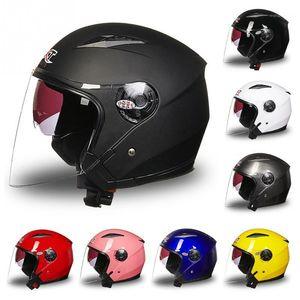 Casco de motocicleta Unisex Casco Completo Anti-UV Electrombile Motorbike Road Bike Pinlock Visor Lente Doble para 4 Seasons1