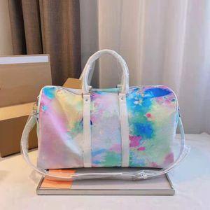Женщины Холст Duffel Сумки 50 Двойная Ручка Регулируемый ремешок Дизайнер Дама внутренняя внутренняя сумка для кармана на молнии
