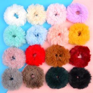 Fur Headband Rope Scrunchie Scrunchy Women Girls Elastic Solid Head Band Ponytail Holder girl hair accessories