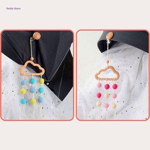 Stroller Parts & Accessories Baby Pendant Beech Cloud Tassel Rattle Pacifier Chain Clip Bed Bell Nipple Holder Crochet Bead Crib Pram Toy