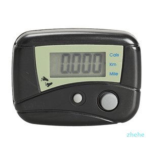 LCD Digital Pedometer Step Counter Walking Distance Calorie Counter Passometer Black