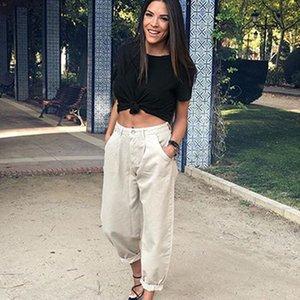 Women Streetwear Pleated Mom Jeans High Waist Loose Slouchy Pockets Boyfriend Pants Casual Ladies Denim Trousers Women's