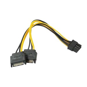Power Cable Adapter 15pin To 8pin Male Female Converter PSU Splitter Computer Accessory Cables & Connectors