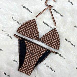조수 편지 꽃 Bikinis 섹시한 패딩 푸시 위로 수영복 패션 분할 비치 수영복 3 색