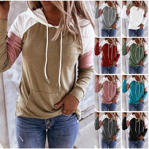 Hoodies with Drawstring Designer Patchwork Pullover Coat Casual Long Sleeve Hooded Tops Sweatshirts Fashion Blouse Streetwear CGY141