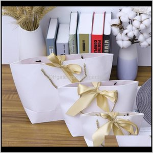 Event Festive Party Supplies Home & Garden Drop Delivery 2021 Pcs Creative Gift Packaging Bags Large Size Portable Shopping Paper Eco-Friendl