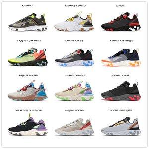 2021 جودة عالية رائدة فيجن العنصر 33 الألوان الاحذية للرجال النساء الخفيفة العظام الثلاثي الأسود الأبيض قرمزي الذهب رجل الرياضة أحذية رياضية