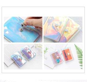 Transparente láser PVC Titular de la tarjeta de crédito Bolsa de mujeres Organizador Cartera Moda Clear Tarjetas de pasaporte Bolsas de almacenamiento CCF6131