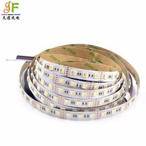 스트립 50m 4 in 1 RGBW 유연한 LED 스트립 SMD RGB + 따뜻한 / 쿨 화이트 블랙 / 화이트 PCB 컬러 칩 60LED / M 비 방수 12V / 24V
