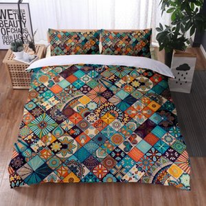 Bedding Sets Bohemian Style Comforter Set Printing Bed Duvet Cover Queen King Quilt Pillow Cases Home Textile
