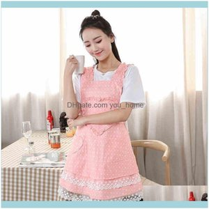 Aprons Textiles & Gardenapron Cute Home Kitchen Cooking Baking Antifouling Work Wear Aessories Coffee Shop Overall Aprons1 Drop Delivery 202