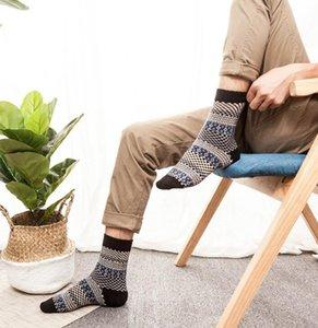 Hombre suave grueso calcetines cálidos Nuevo diseño Angora Cashmere Conejo Lana mezcla otoño invierno lana gruesa calcetines térmicos