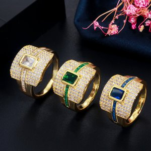 2021 High Quality Fashion New Popular Geometric Accessories Shiny Crystal Ring Ladies High-End Luxury Birthday Jewelry Gift