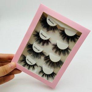 100pcs Wholesale Paper Eyelash Packaging Box Lashes Boxes Marble Design For 10mm- 25mm Mink Eyelashes Square Case False