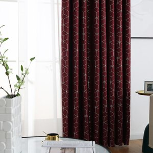 Curtain & Drapes Tulle Sheer Geometric Pattern Window Kitchen Finished Treatment Decorations Panel For Study Bedroom Home Decor