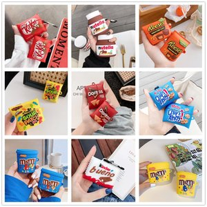 Funny Cake Crisps Biscuits Chocolate Sweets Snacks Earbuds Protection Cover for Apple Bluetooth Earphones AirPods 1 2 Pro Full Body Case