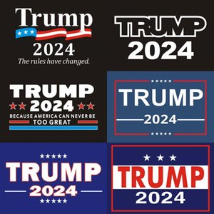 2024 Trump Car Stickers 2024 US Presidential Campaign Trump Sticker 14.8*21CM PVC Tags Trump 2024 Car Sticker Bumper Sticker Car Decor748 T2