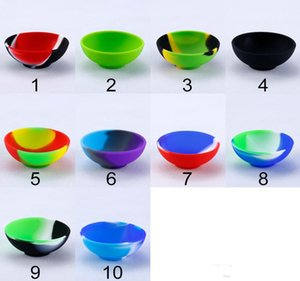 Bowl Shape Silicone Container Food Grade Small Rubber Non-stick Jars Dab Tool Storage Oil Holder Mini Wax Container for Vaporizer GWC7438