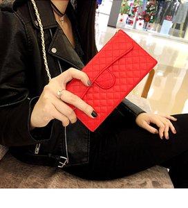 Cell Phone Pouches Lambskin Leather Flip Wallet Chain Handbag Case Cover For 12 Mini 11 Pro XS MAX X XR 6 6S 7 8 Plus SE Shoulder Bag