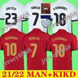 20 21 Ronaldo Futebol Jerseys Joao Felix 2021 Diogo Andre Silva Bernardo Fernandes Camisa Homens Kit Camisas Pizzi Figo Rui Costa