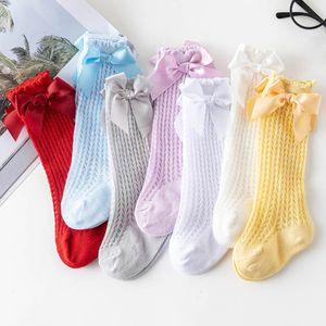 Socks Baby Girls Kids Knit Knee High Spring Summer Princess Newborn Wear Accessories Clothes 0-2T B4552