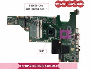 Motherboards For CQ43 CQ57 630 430 431 631 646668-001 Laptop Motherboard 01014Q000-388-G GM45 UMA DDR3 Mainboard 100% Tested OK