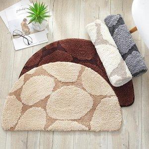Carpets Half Round Carpet Cotton Water Absorption Thicken Non-slip Wear-resisting Door Bathroom Kitchen Solid Ground Rugs