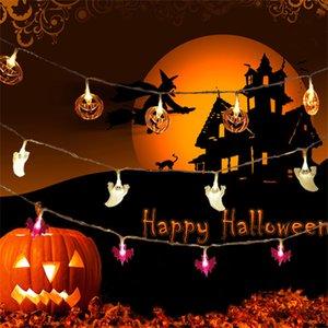 Halloween String Lights, LED Pumpkin Lights, Holiday Lights for Outdoor Decor,2 Modes Steady Flickering Lights(40 One Pumpkin Lights, 20 feet)