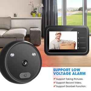 Doorbells R11 Smart Cordless For Warehouses Home Office 2.4 Inch Peephole Door Camera Doorbell IR Night Vision Eye Bell