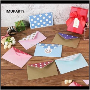 Greeting Event Festive Home & Garden Drop Delivery 2021 20Pcs Polka Dot Envelopes Paper For Invitations Thank You Cards Wedding Birthday Part