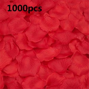 Other Accessories 1000PCS Wedding Rose Petals Silk Colorful Artificial Flower