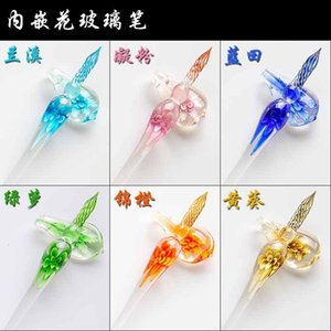 Fountain Pens Inlaid glass dipped in water antique color ink star sky crystal student net red creative gift ink set