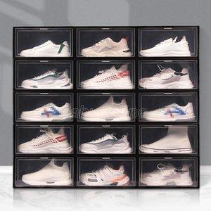 Foldable Plastic Shoe Box Thicker Dustproof Flip Stackable Shoebox Transparent Drawer Sort Out Shoes Cabinet Shoe Organizer