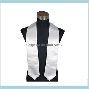 Party Favor Event & Supplies Festive Home Garden Adult Sublimation Heat Printing Blank Graduation Scarf Thermal Transfer White Honor S