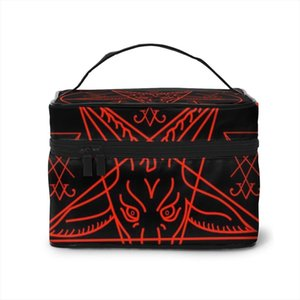 Travel Cosmetic Fashion Lady Baphomet Bags And Lucifer Storage Large Capacity Women Makeup
