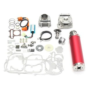 100cc 50mm Big Bore Kit Cylinder Piston Ring Power Pack Exhaust For 4 Stroke Scooter GY6 50cc 139QMB 1P39QMB Engine Assembly