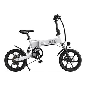 AB İNGILTERE Stok ADO A16 Katlanabilir Elektrikli Bisiklet 16 '' Lastik 350W DC Motor 25km / H Max Speed City Bike Mountain Ebike