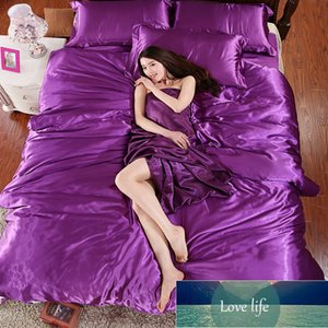 100% pure satin silk bedding set,Home Textile King size bed set,bedclothes,duvet cover pillowcases