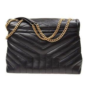 ModaDiseñador louLou Bags Bags Bolsos Bolsos Bolsos Cuero genuino Mujeres Famosa Crossbody Messenger Cadena Loulou Bag High Calidad 25 cm 32 cm #